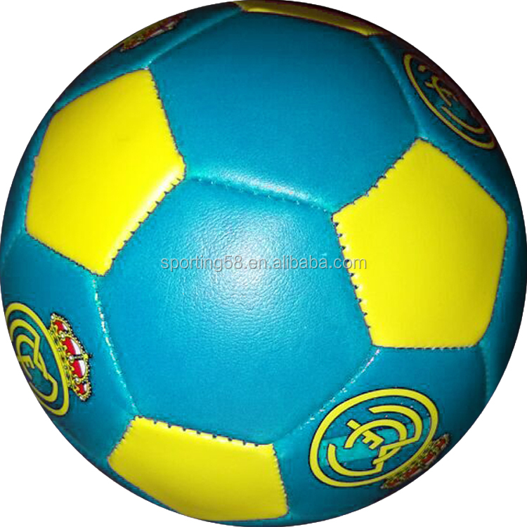 sporting products JFFB023 light blue pvc leather gift football soccer ball