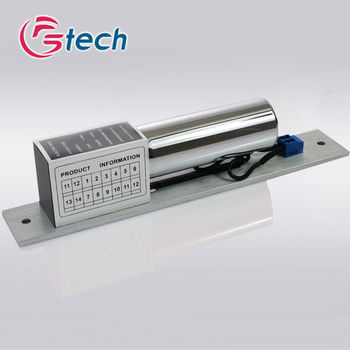 High security apartment door lock with adjustable time delay and signal output drop lock