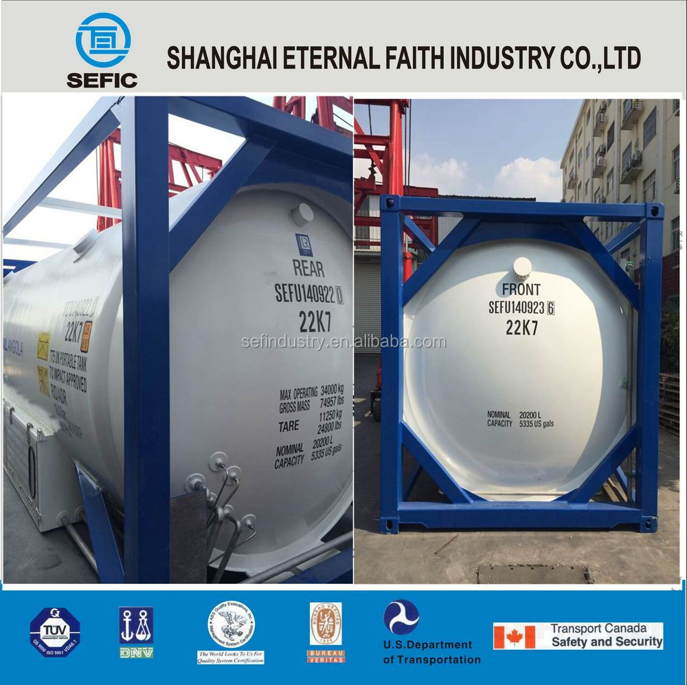 ISO ASME Standard T50 Liquid Cryogenic Nitrogen Gas T75 Tank Container