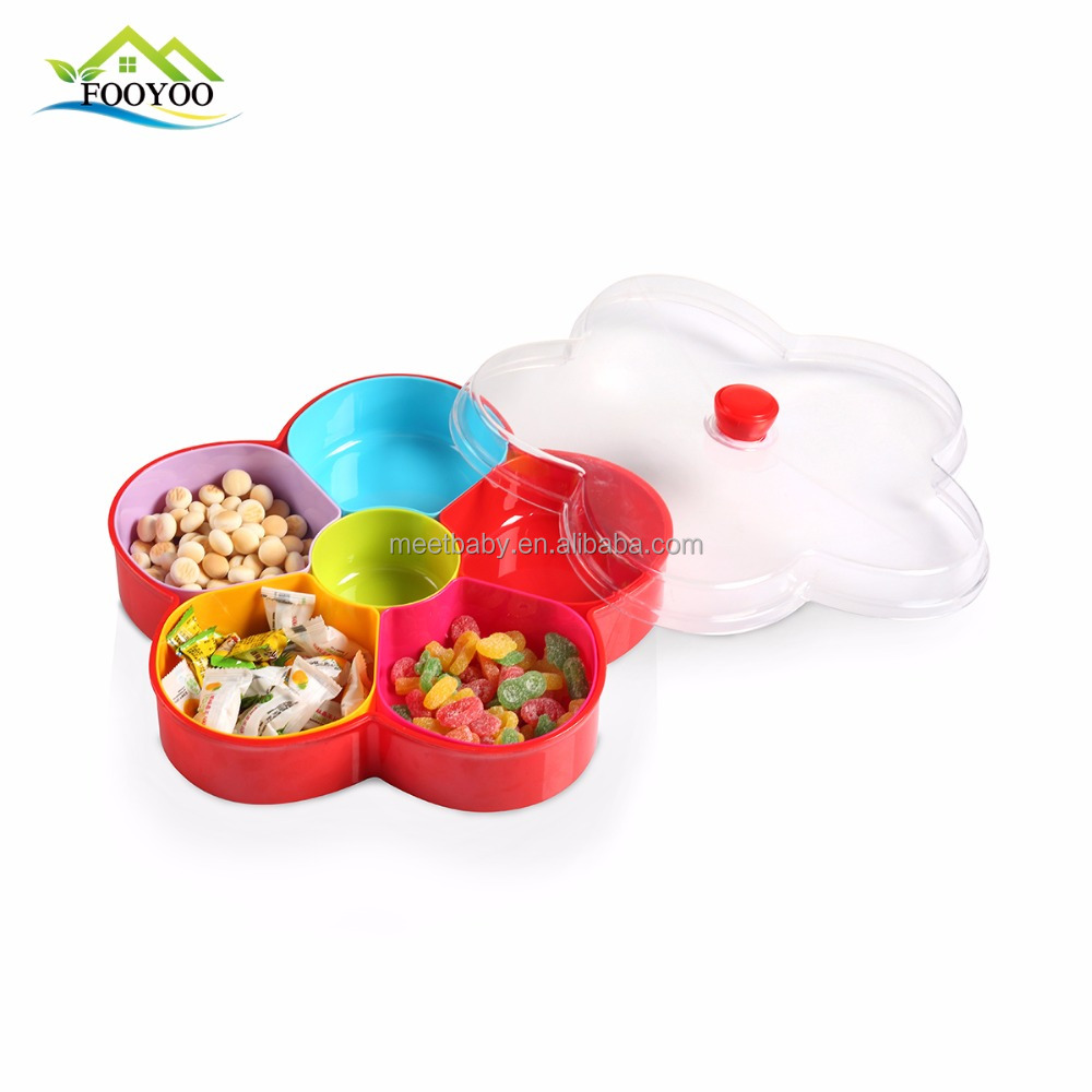 Reusable family party Candy fruit plastic storage box tray