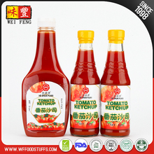 OEM Manufacturer glass or plastic bottle Tomato Ketchup Sauce For Dipping