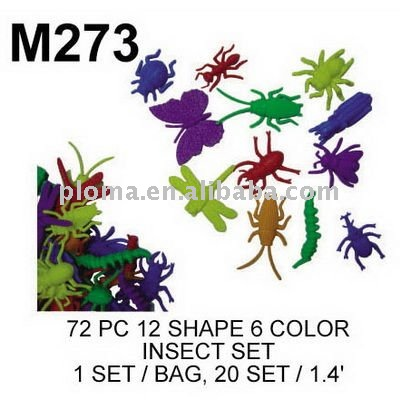 M273 72 PC 12 SHAPE 6 COLOR INSECT SET