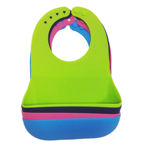 Wholesale Custom Design Infant Teething Waterproof Drool Silicone Baby Bib Manufacturer For Feeding