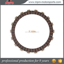 High quality motorcycle parts accessories clutch plate for T125A BAJAJ100