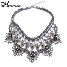 2014 New Trendy Designer Crystal Pendant Necklace Sweater Chain Statement Luury Party Jewelry Za Brand Necklace B1115