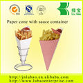 Black color Paper Cones for fries with size d170
