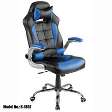 Durable Pu leathe swivel reclining computer racing office chair with headrest