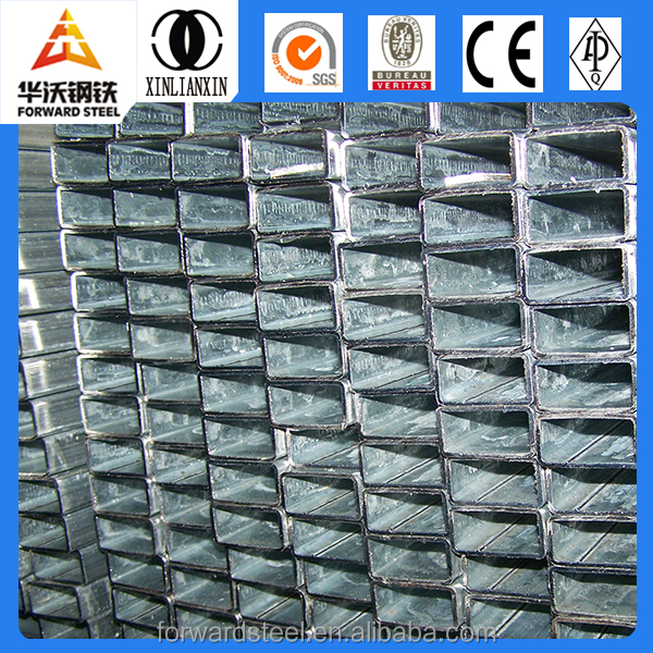 wall thickness 0.6-2.75mm pre galvanized square steel pipe