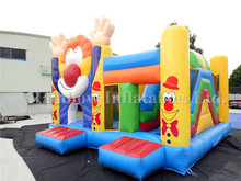 Attractive 4 In 1 Inflatable Party Clown Combo/inflatable Jumper For Fun/slide And Bonce House In Flatable