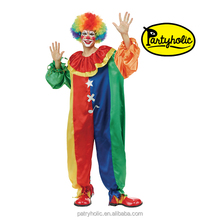 Halloween adult clown costume for cosplay costume party adult bar decoration Christmas party clown suit(18129)
