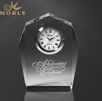 Funny Crystal Desk Clocks With Custom Logo Engraved