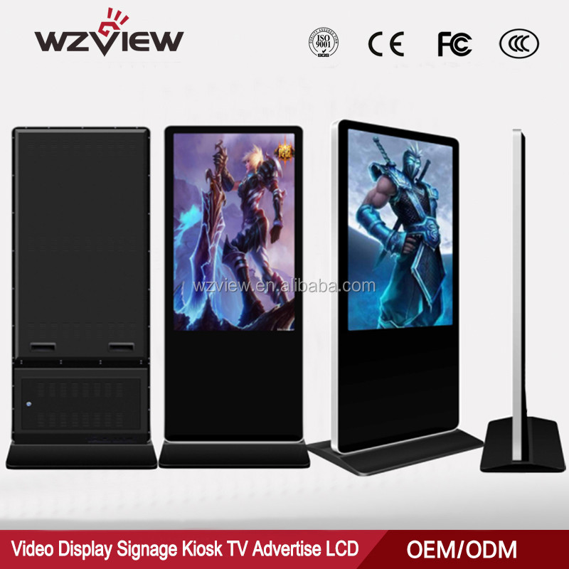 Windows Kiosk 42inch 500G Indoor Digital Signage WIFI Floor Stand LCD Advertising Display Touch <strong>Screen</strong> All In One PC