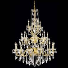 Chinese made gold lantern fiber optic light crystal chandelier