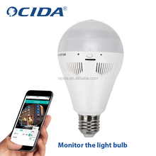 intelligent wifi led bulb 360 degree camera monitor bulb light Smart Led Monitor Light Bulb