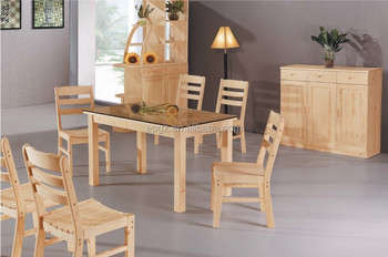 solid wood dining table and chairs for dining room