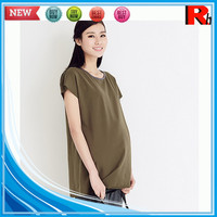Alibaba china 100% soft plain custom wholesale maternity clothes from manufacturers