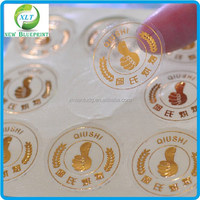 Extremely good embossing gold foil labels, hot foil gold label sticker ,embossed label