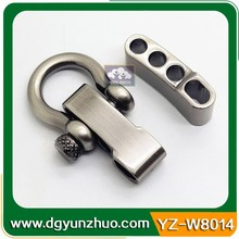 5mm Stainless steel adjustable shackle for 550 paracord, colored stainless steel shackle