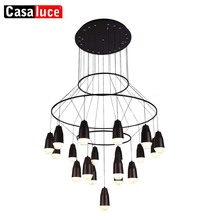 CE ROHS 2 Years Warranty Zhongshan High Quality Modern Decorative Pendant iron acary Metal led Ceiling Lighting