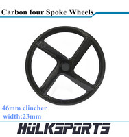 carbon four spoke rim 700c carbon fiber rim rear wheel 46mm clincher 4 spoke wheel single item