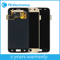 Wholesale touch screen digitizer replacement parts display assembly original lcd for samsung GALAXY S7 Edge
