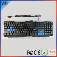 Latest Multimedia Waterproof Changeable Color LED Light Ergonomic standing usb numeric keyboard