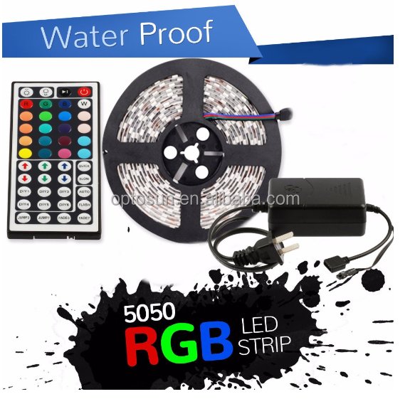 Hot! Cheap 44key DC12V RGB 5050 Led flexible strip light 5M 300led