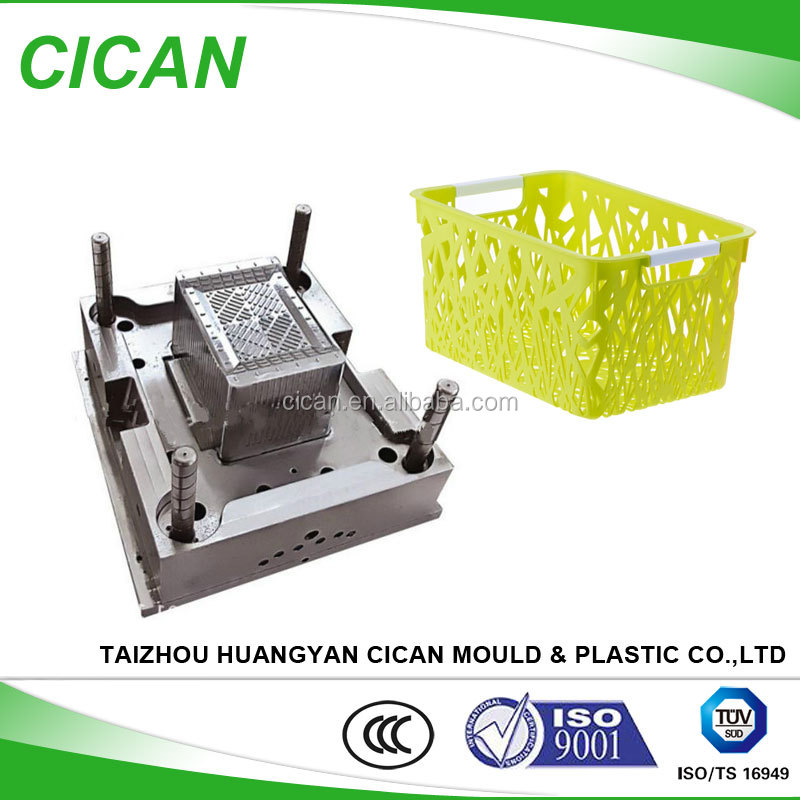 huangyan commodity mold,injection plastic laundry basket mould with handle