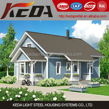 Cheap Modern Light Steel Villa Prefab Homes for Sale