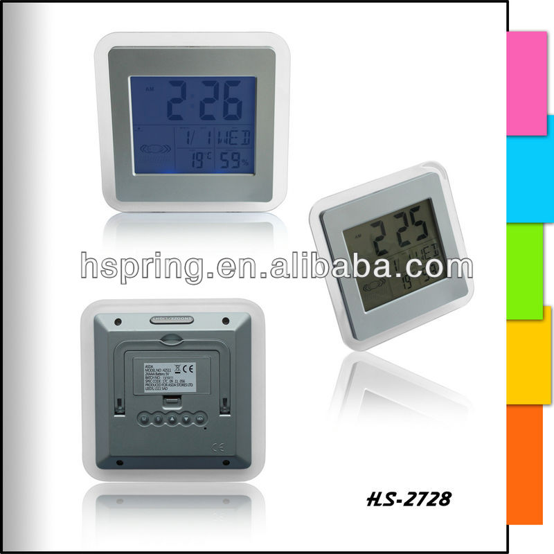 Cheap weather station forecast led desk colck