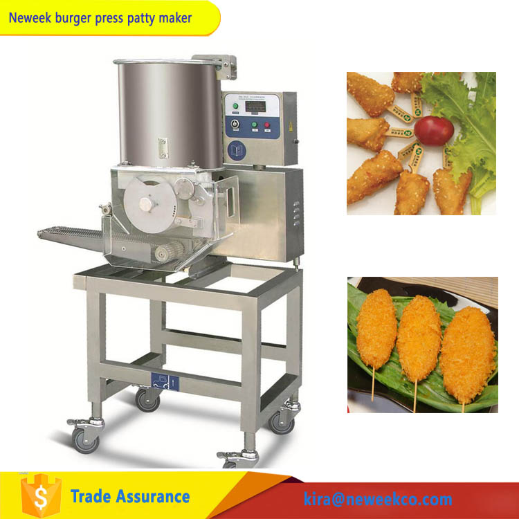 NEWEEK auto-forming fish steak meat potato patty making machine for sale