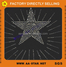Bling bling star design garment accessories hot fix rhinestone motif transfer,Iron on rhinstone transfer