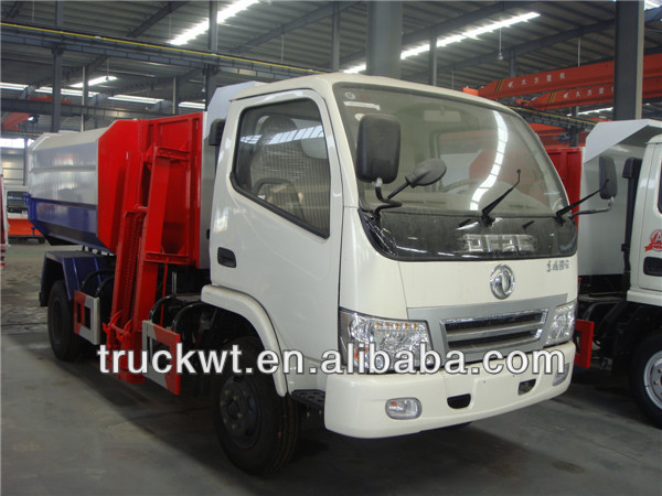 foton small 6 wheels hydraulic bin lifter garbage truck
