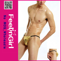 Yellow fashion lady in stock sexy men underwear thong