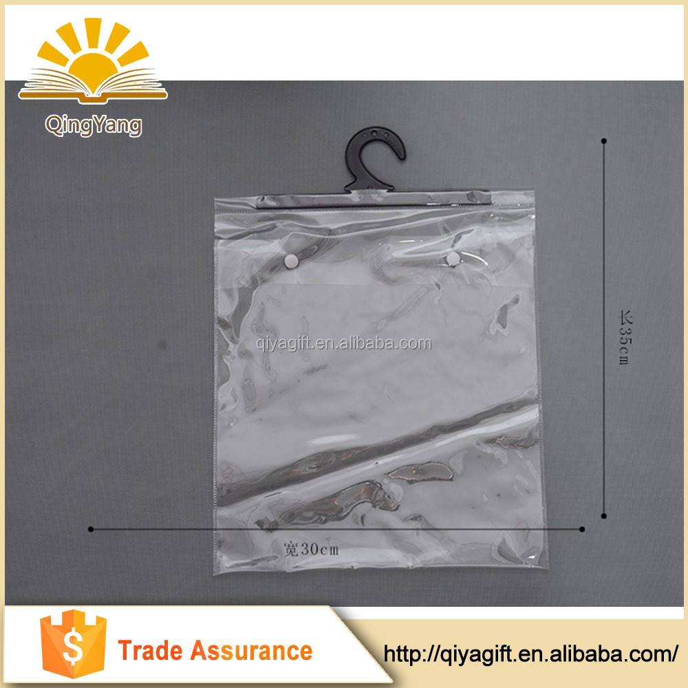 Transparent Pvc Packing Clear Plastic Packaging Bag With