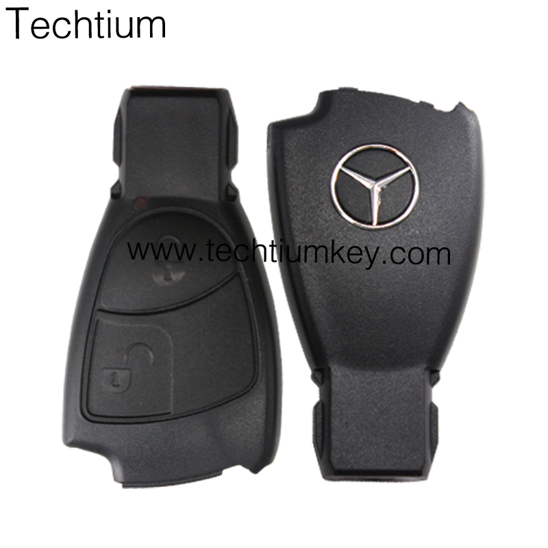 2 Button Remote Key Fob Case Shell with logo For Mercedes Benz Smart Fortwo Replacement Car Key