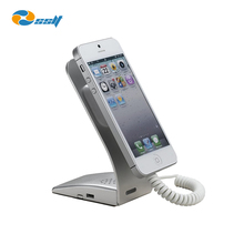 Retail security device anti theft cellphone charging display stand with alarm