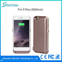 Extend battery usage 8200mAh battery charger case for iphone 6 plus