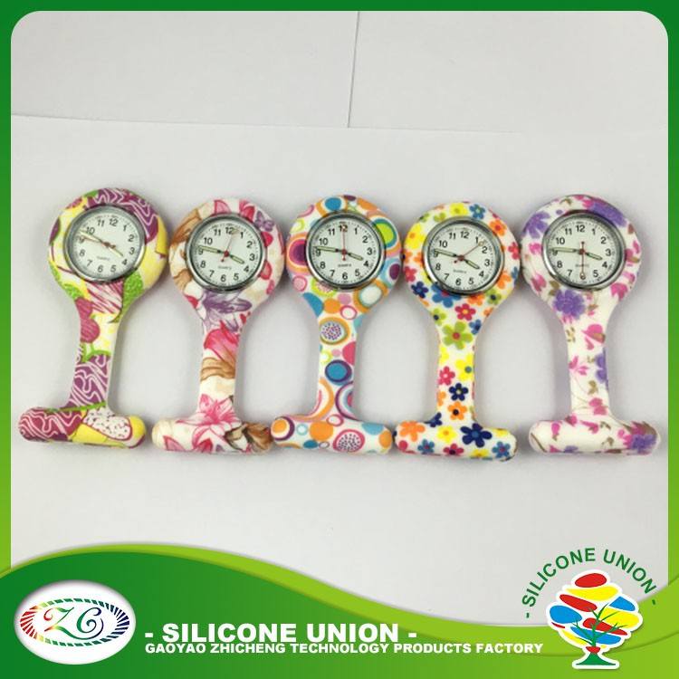 Good Product Colorful Silicone rubber Nurse Watch Nurse FOB Watch silicone Nurse Watch