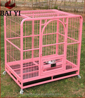 Wholesale Galvanized Pink Dog Crate With Removable Plastic Tray (Superior Quality)