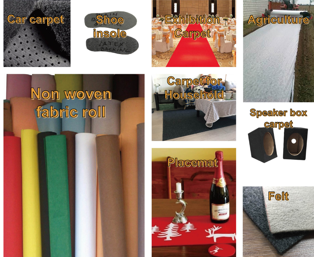 RS NONWOVEN 100% polyester non woven fabric speaker box carpet