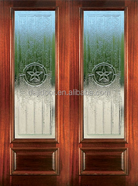Postmodern Style Double Front Doors In <strong>Wood</strong> DJ-S9155M-2