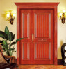 Wooden double ire panel doors with grill in kerala