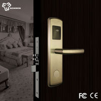 cheap fire rated swipe card tcp ip network hotel safety lock