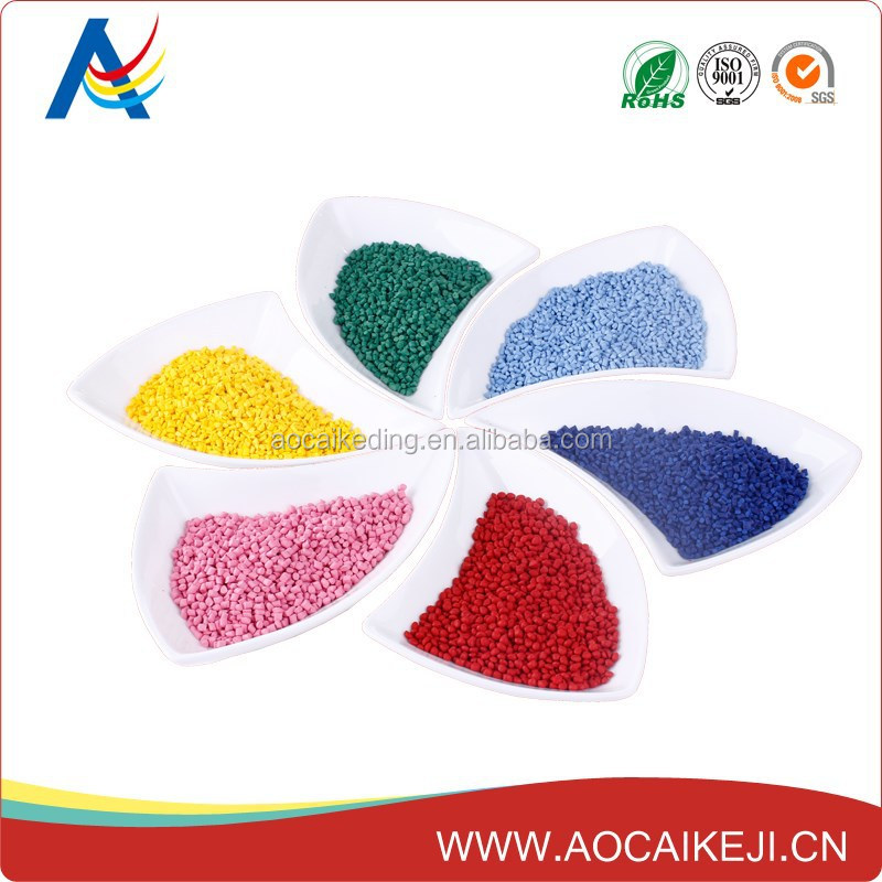 Orange yellow PET / ABS /HDPE/LDPE masterbatch with MSDS by PANTONE color