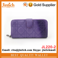 In stocks women zipper wallets new design female purse with zipper pocket