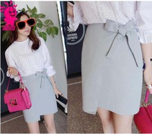 New Arrival sexy skirt design pictures young girls in mini skirt fashion short gray bow skirts