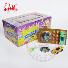 Bubble Gum Cartoon Card with Car Candy Toy