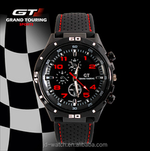 Luxury Brand Silicone Strap Mens BIG DIAL GRAND TOURING GT sports quartz watch