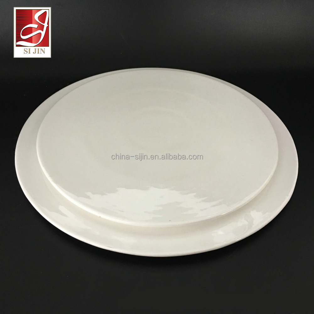 Round white ceramic tableware set bone china dinner plates for restaurant/hotel/home/wedding/banquet